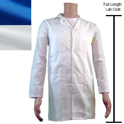 Full Length ESD Lab Coat For Static Control